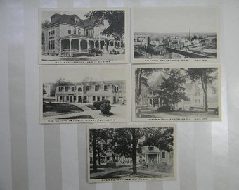 5 Vintage Postcards, First Veterans Facility, TOGUS, Augusta maine, Veteran's Administration Facility No. 1
