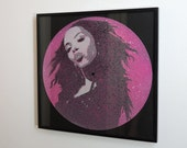 Limited Edition Aaliyah stencil art vinyl record