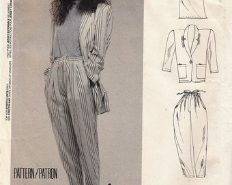 "Women's Sewing Pattern Blazer Jacket Top and Pants 1980's UNCUT Size Medium 14-16 Bust 36-38"" McCall's 3025"