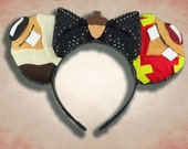 Chipmunk Mouse Ear Headband with Bow