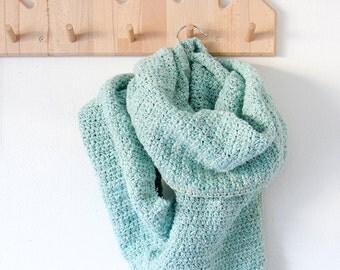 "Crochet scarf + shawl ""Luna"" --> Schema PDF italiano"