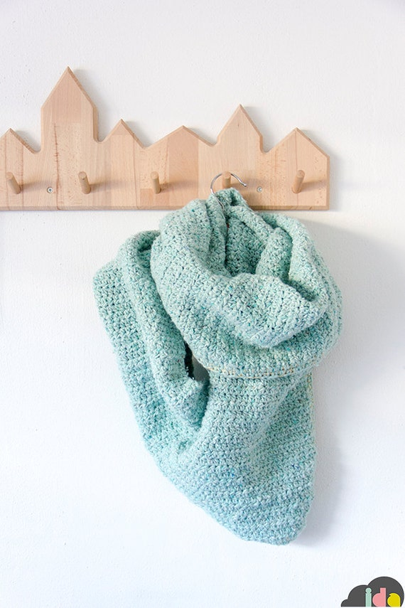 "Crochet scarf + shawl ""Luna"" --> English PDF pattern"