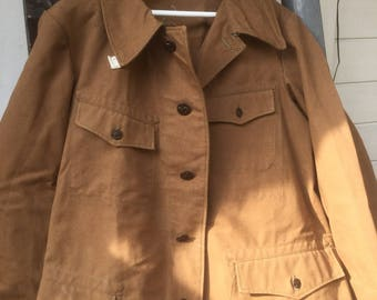 vintage French hunting jacket cotton canvas