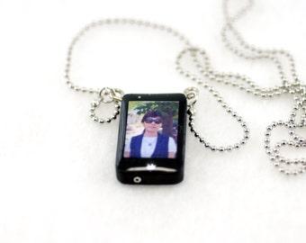 Personalized smartphone miniature Zodiac Necklace/ personalized gift / personalized Necklace