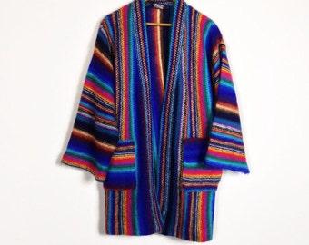 Rainbow Bell Sleeve Cardigan