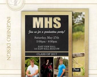 Graduation Invitation,  Photo Cards, Senior Boy Invitation, Announcement, Templates, Photoshop, Graduation Cards, Graduation Card, Jake P