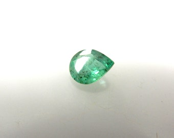 Natural Emerald-Gemstone-Cut-Stone Zambian Emerald Cut Stone Full Transperent Clear Pear- AAA Quality Size 6.5x8MM Pair 130ct 100% Natural