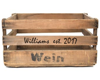 Personalized Vintage Wine Crate, Limited Edition