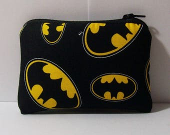"""Padded Pipe Pouch, Batman Pipe Case, Pipe Bag, Superhero Pouch, Padded Pouch, Stoner Gift, Mini Pouch, Nerd Gift, 420 Pipe Cozy - 4"""" MINI"""