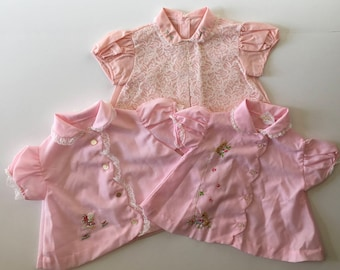 1950's Baby Girl Blouses (6/12 months)