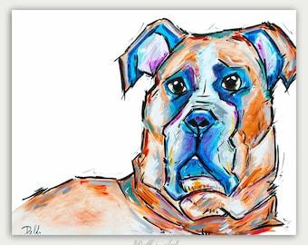 Colorful Art, Custom Dog Paintings, Acrylic On canvas, Wall Decor, Home Decor