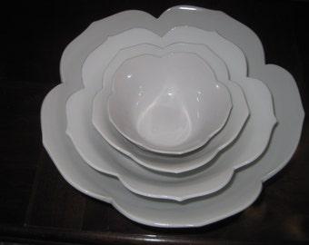 White Lotus Bowls, Set of 10