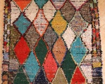 "310X165 CM (10' 2"" X 5' 4"" )  T31416 boucherouite , boucharouette,  moroccan rugs , berber rugs, morocco carpets"