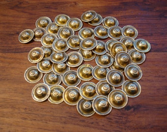 50 x Turkoman style tarnished gold colour buttons