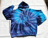 Custom order Tie Dye Hoodie Size Large Rainbow