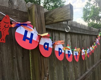O'FISH'ally Bobber Happy (Age) Birthday Banner