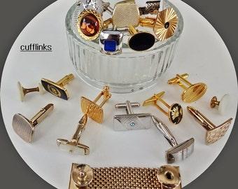 Repurposed jewelry supplies Found Objects ForAssemblage Jewelry Mixed Cufflinks Lot,Destash,Jewelry Supplies, Assemblage Supplies, Cufflinks