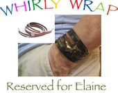 Reserved for Elaine Davis, two Whirly Wrap leather bracelets,
