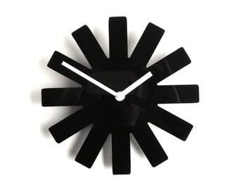 Objectify Black Asterisk Outline Wall Clock - Medium Size