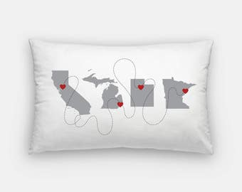 Not All Who Wander Are Lost | custom pillow | custom map pillow | personalized pillow | Choose your own adventure state pillow | home decor