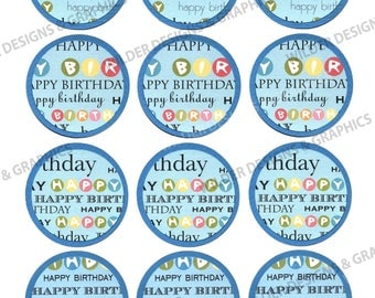 Happy Birthday Gift/Hang Tags (HT103hapb) Birthday Boy/Party/Celebrate/Favor Tag/Gift Tag-Instant Download