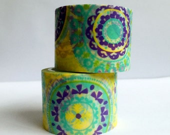 Washi Tape| Decorative Tape Medallion Yellow and Purple