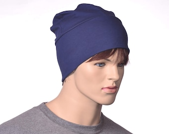 Navy Blue Workshop Artisan Skull Cap Made of Cotton Poor Poet Hat
