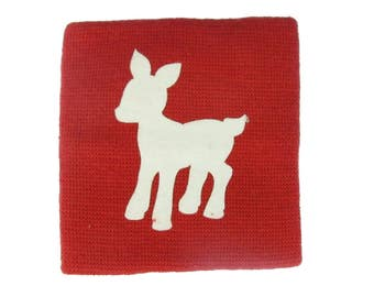 Sweatband Wristband wrist warmer with zipper purse Miniblings Reh Bambi red