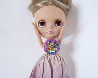 Blythe Skirt / Silk Skirt / Purple Skirt