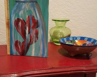 Jar of hearts medium journal by Katie Pobjecky Lilly-Bug Art