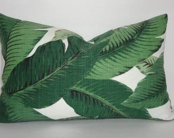 Outdoor/Indoor Palm Tree Pillow Cover Tommy Bahama Swaying Palms Lumbar Pillow Cover Deck Porch  12x18 12x20