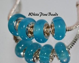 Turquiose Murano Glass Bead Fits European Style Charm Bracelets