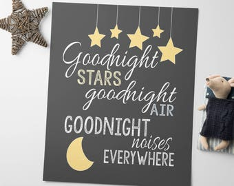 Printable Nursery Art - Nursery Printables - Goodnight Moon - Nursery Wall Art - Kids Room Decor - Childrens Art - Digital Art