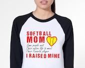 Softball Mom Raglan T-Shirt Mom Jersey.
