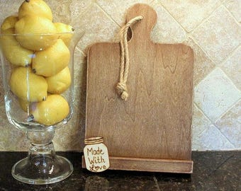 Rustic Kitchen Cookbook Stand Bridal Shower Gift iPad Holder Stand Recipe Holder PERSONALIZED