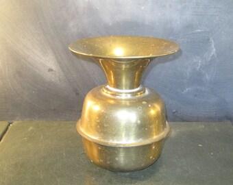 Vintage Brass Spittoon Vase