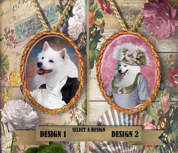 American Eskimo Jewelry.American Eskimo Pendant or Brooch.American Eskimo  Necklace.Custom Dog Jewelry by Nobility Dogs.Dog Handmade Jewelry