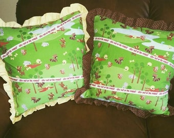 MY FAVORITE MURDER 1 Single Throw Pillow - Stay out of the forest! - removable, washable, zipper