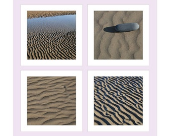 Gift Tags Photo, Pack Of Four, 4 Photo Gift Tags, Present Labels, Coastal Gift Tags, Sand Patterns