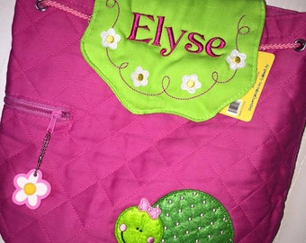SALE! Personalized Stephen Joseph Turtle Backpack/Turtle with Flowers