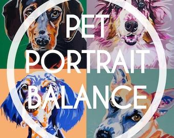 "Custom Acrylic Pet Portrait  18x18"" BALANCE"