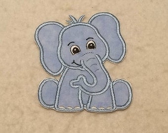 Baby Elephant - MADE to ORDER - Choose COLOR and Size - Tutu & Shirt Supplies - Iron on Applique Patch 8154