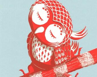 Red Owl Screen Print