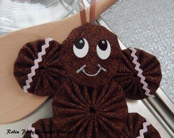 Gingerbread Yo Yo  Ornament - Gingerbread Cookie GB42