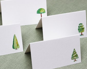 Topiary Place Cards, Garden Party Decor, place card, assorted set of 12