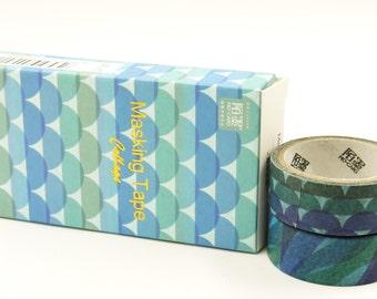 Rhythm and Blues - Japanese Washi Paper Masking Tape Box Set - 3.3 yard - 2 rolls