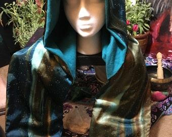 boho/gypsy/festival/burning man hood/shawl/scarf/pocket for warmth