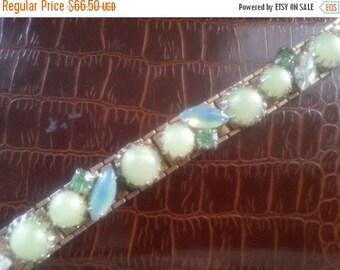 On Sale Rhinestone Bracelet * 1950's Hollywood Regency Jewelry * Mad Men Mod 60's Style Retro Collectible Jewelry