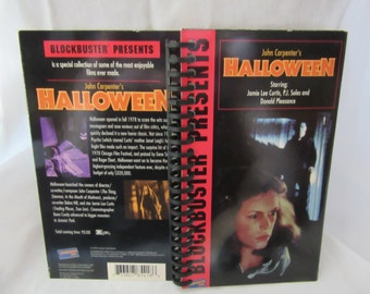 Halloween VHS Notebook