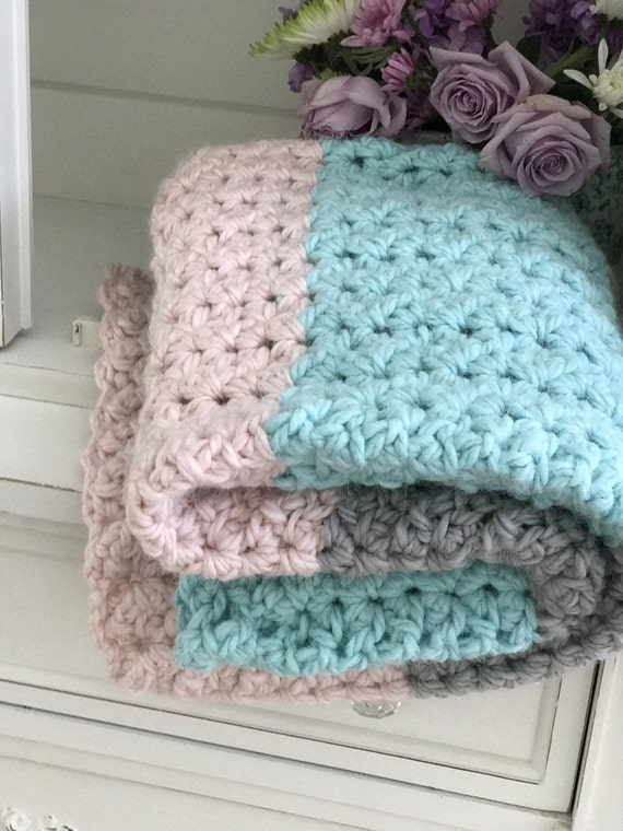Baby Blanket Pattern - Throw Pattern - Crochet Chunky ...